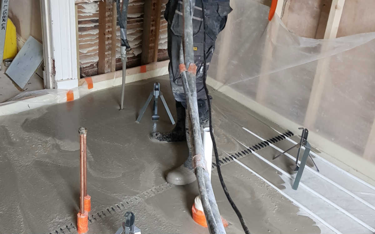 floor coating underfloor heating